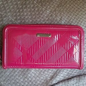Authentic Burberry patent leather wallet
